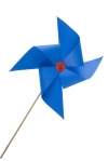 Blue windmill toy